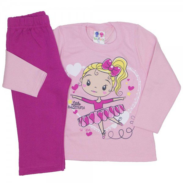 conjunto blusa de moletom rosa bebe 350