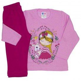 conjunto blusa de moletom rosa medio 353