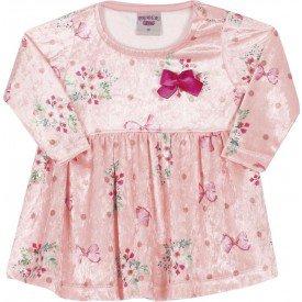 vestido de veludo sueco rosa 3608