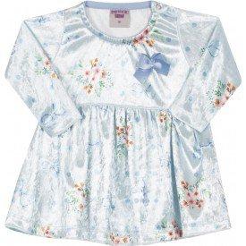 vestido de veludo sueco azul 3608