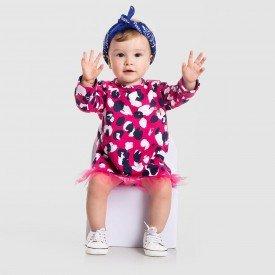 vestido mini fashionista pink maxi onca com tule 152009