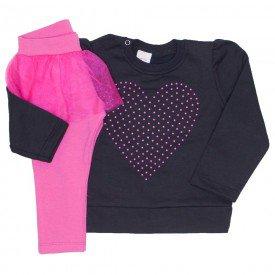 conjunto blusao preto e legging com saia tutu pink 15 2002