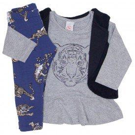 conjunto 3 pecas blusa mescla colete legging tigre 15 2001