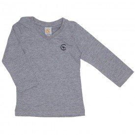 camiseta mescla manga longa decote v 15 1001