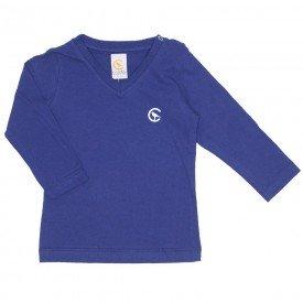 camiseta marinho manga longa decote v 15 1001