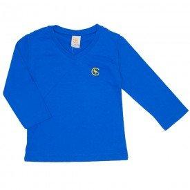 3c15f51b4 camiseta basica azul royal decote v manga longa 15 3004