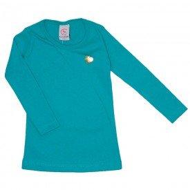blusa basica love verde com pingente coracao 15 4009