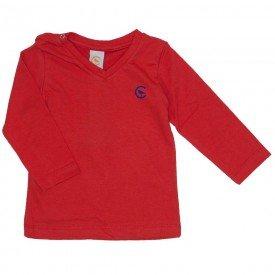 camiseta vermelha manga longa decote v 15 1001