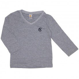 camiseta basica mescla decote v manga longa 15 3004