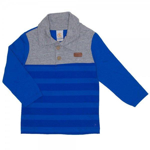 4ec7434cf9 camiseta polo manga longa azul royal 15 3003