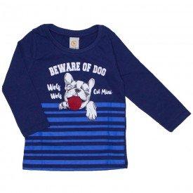 camiseta dog divertido com lingua interativa marinho 15 3011