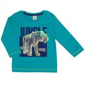 camiseta jungle meia malha verde 15 3008