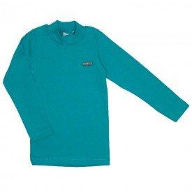 blusa basiquinha gola alta verde 15 3006
