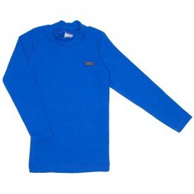blusa basiquinha gola alta azul 15 3006