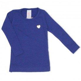 blusa basica love marinho com pingente coracao 15 4009