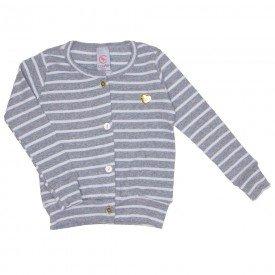 blusa cardigan listrada ribana mescla 15 4007