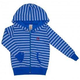 jaqueta azul listrada com capuz 15 3013