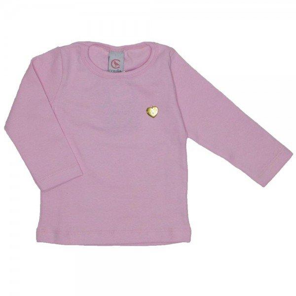 blusa basica love rosa com pingente coracao 15 2000