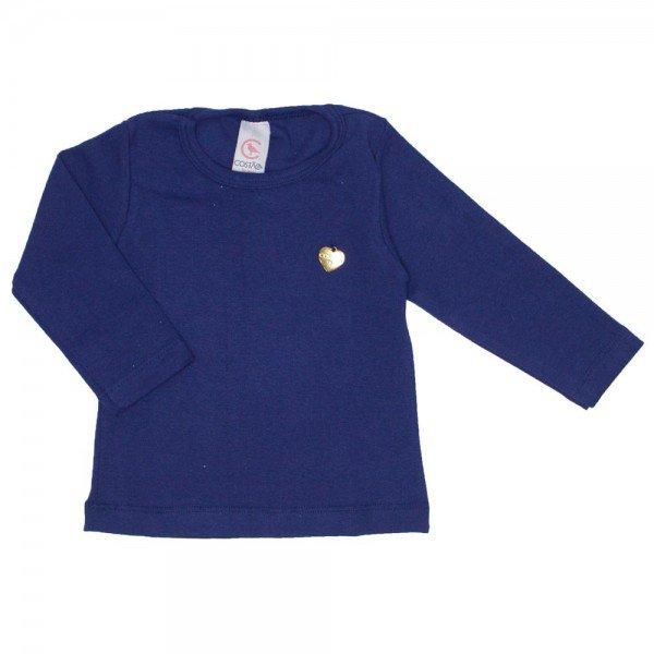 blusa basica love marinho com pingente coracao 15 2000