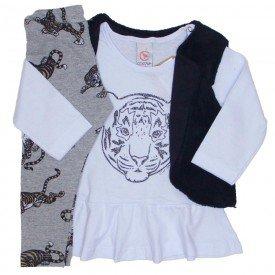 conjunto 3 pecas blusa branca colete legging tigre 15 2001