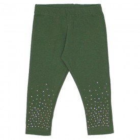 legging verde de cotton com strass 15 2007