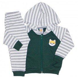 conjunto jaqueta reglan com capuz verde listrado 15 1006