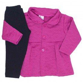 conjunto casaco matelasse legging molecotton pink 19001