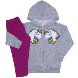 conjunto jaqueta moletom c capuz e legging molecotton mescla 19011