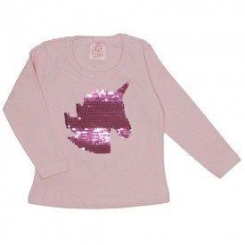 blusa cotton com bordado e lantejola rosa bebe 19012
