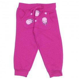 calca moletom c bolso canguru cordao e punho pink 19024