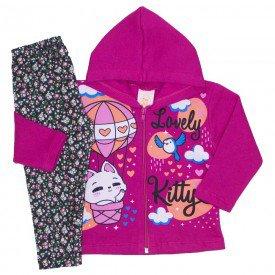 conjunto jaqueta moletom capuz legging termo light pink 19008