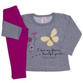 conjunto blusa moletom estampada legging molecotton mescla 19042