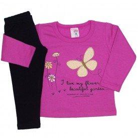 conjunto blusa moletom estampada legging molecotton pink 19042