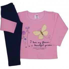 conjunto blusa moletom estampada legging molecotton rosa 19042