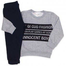 conjunto blusa mescla fashion e calca preta 1096