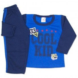 conjunto moletom cool kid e calca com faixas royal 19158