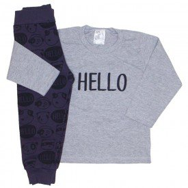 conjunto blusa mescla hello e calca preta 1095