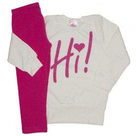 conjunto moletom off white hi e legging pink 1080