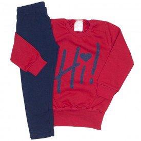 conjunto moletom vermelho hi e legging marinho 1080
