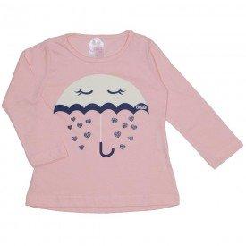 blusa salmao guarda chuva de amor 1074