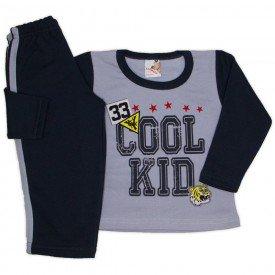 conjunto moletom cool kid e calca com faixas cinza 19158