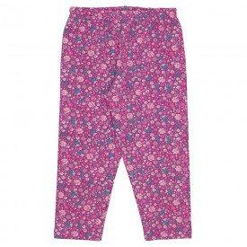 legging molecotton estampada floral rosa 19070