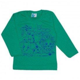 camisa meia malha verde 19144