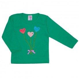 blusa meia malha com strass verde 19072