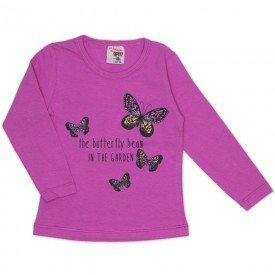 blusa cotton estampa borboletas rosa 19062