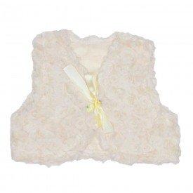 colete pele com fita cetim off white 19073