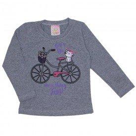 blusa cotton com strass bicicleta mescla 19016