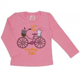 blusa cotton com strass bicicleta rose 19016