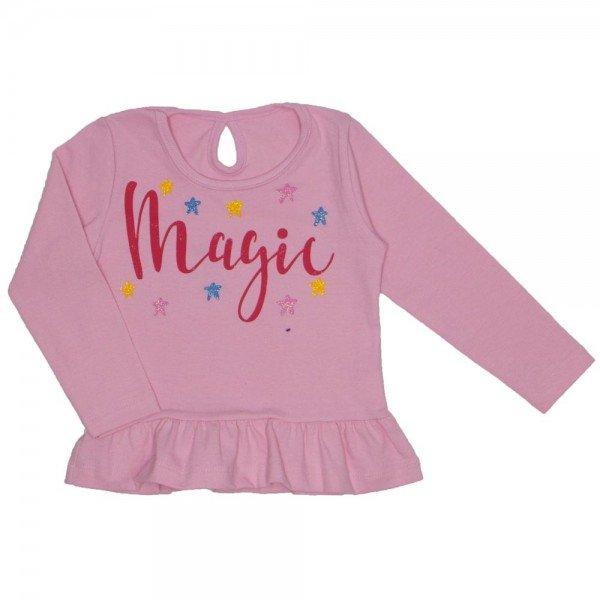 blusa cotton c babado e franzido gota nas costas rosa bebe 19017