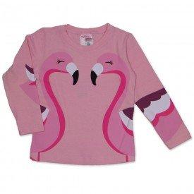 blusa cotton com estampa nas mangas rosa 19052